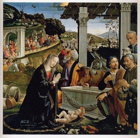 Domenico Ghirlandaio - Natività e adorazione dei pastori