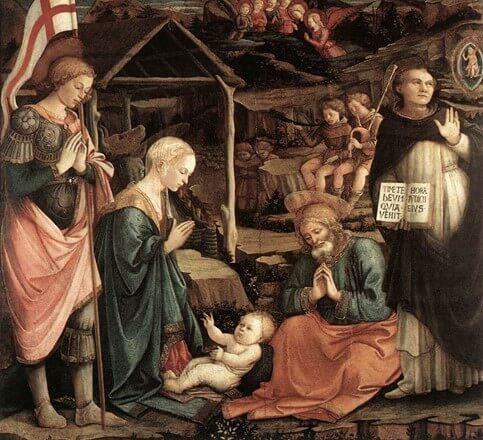 Filippo Lippi – L'adorazione del bambino di San Vincenzo Ferrer