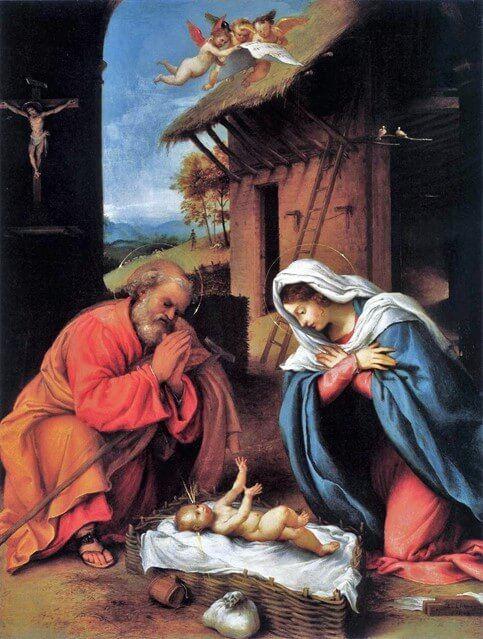 Lorenzo Lotto - La natività