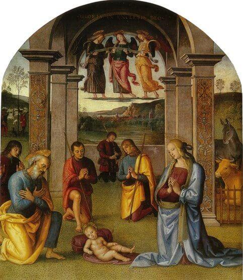 Pietro Perugino - L'Adorazione del bambino